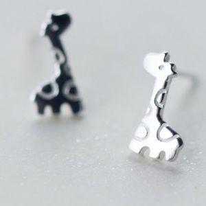 🦒LAST PAIR 🦒 Mini Giraffe 925 Silver Earrings